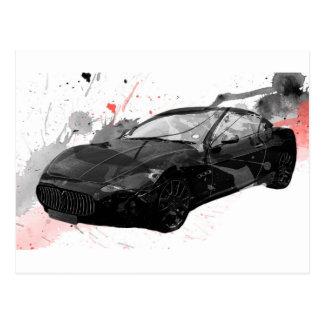 maserati gt車のイラストレーション ポストカード