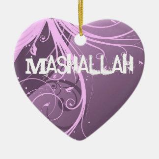 Mashallahのイスラム教のすみれ色のオーナメント セラミックオーナメント