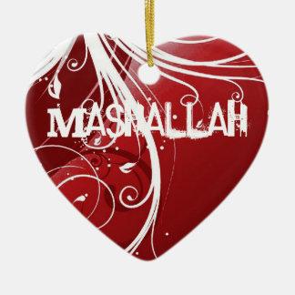 Mashallahのイスラム教の赤いオーナメント セラミックオーナメント