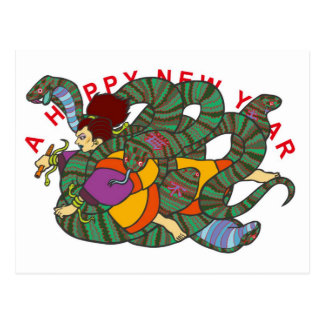 Master of Snake Newyears card ポストカード