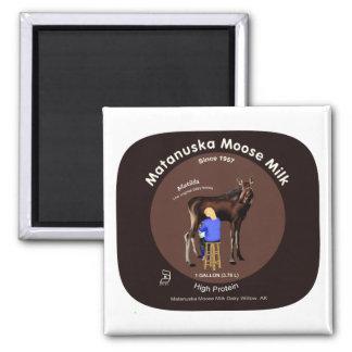 Matanuskaのアメリカヘラジカのミルク マグネット