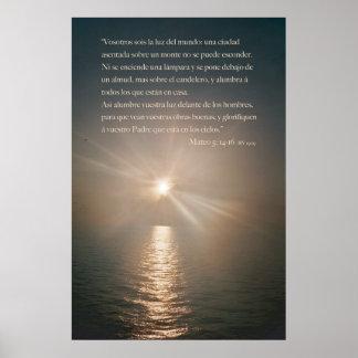 Mateoの5:14 - 16 ポスター