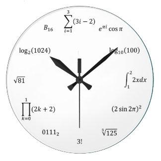 Math Equations and Notations ラージ壁時計