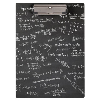 Math Formulas On A Blackboard クリップボード