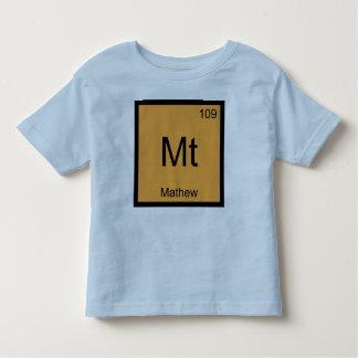 Mathew一流化学要素の周期表 トドラーTシャツ