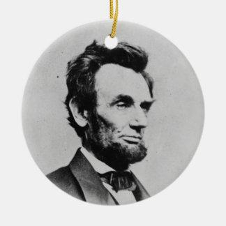 Mathew B. Brady著エイブラハム・リンカーン大統領 セラミックオーナメント