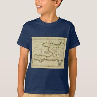 Mathew Carey著1814年のハイチの地図 Tシャツ
