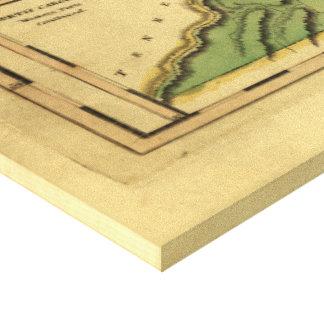 Mathew Carey (1814年)著ノースカロライナの地図 キャンバスプリント