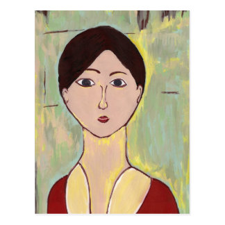 Matisseの後の女の子の顔 ポストカード