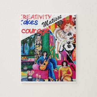 Matisseの絵画のコラージュの創造性 ジグソーパズル