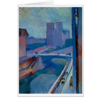 Matisse Notre Dameの挨拶またはメッセージカード カード