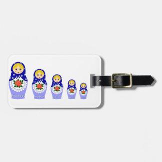 Matryoschkaの人形の荷物のラベル バッグタグ
