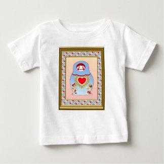 Matryoshaは愛を互いからかいます ベビーTシャツ
