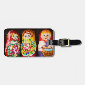 Matryoshkaのカラフルな人形 ラゲッジタグ