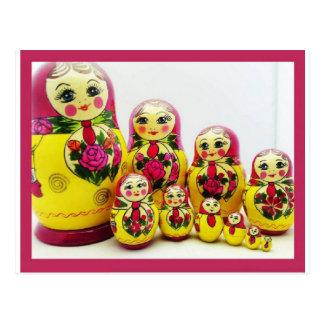 Matryoshkaの人形 ポストカード