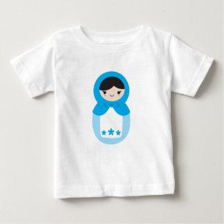 Matryoshkaの青い人形 ベビーTシャツ