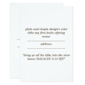 matte standard  white envelope included カード