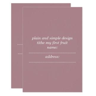 matte standard white invelope included invit card カード