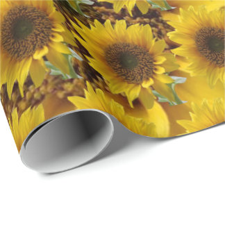 Matte wrapping sunflower paper ラッピングペーパー