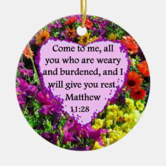 MATTHEWのかわいらしい11:28の紫色の花柄 セラミックオーナメント