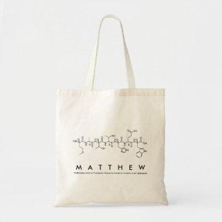 Matthewのペプチッド名前のバッグ トートバッグ