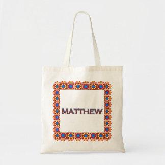 Matthewの抽象美術の南西カスタムなトートバック トートバッグ