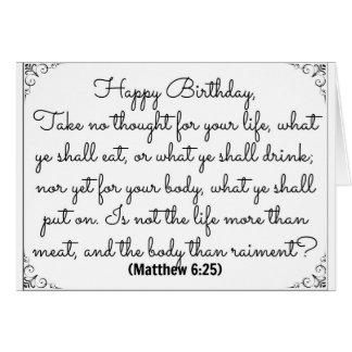 Matthewの詩の6月25日の聖書のバースデー・カード カード