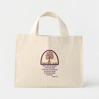 MATTHEWの12:33 -木のために…彼のフルーツによって知られています ミニトートバッグ