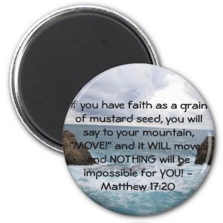 Matthewの17:20のやる気を起こさせるな聖書の引用文 マグネット
