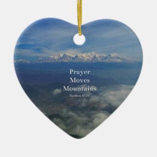 Matthewの17:20の祈りの言葉は山を動かします セラミックオーナメント
