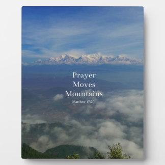Matthewの17:20の祈りの言葉は山を動かします フォトプラーク