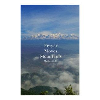 Matthewの17:20の祈りの言葉は山を動かします 便箋