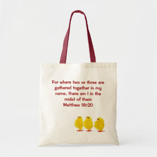 Matthewの18:20のバッグ トートバッグ