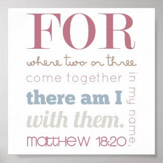 Matthewの18:20 ポスター