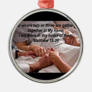 Matthewの18:20 メタルオーナメント