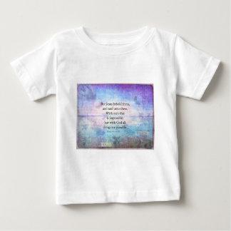 Matthewの19:26の芸術の感動的な聖書の詩 ベビーTシャツ