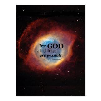 Matthewの19:26 ポストカード