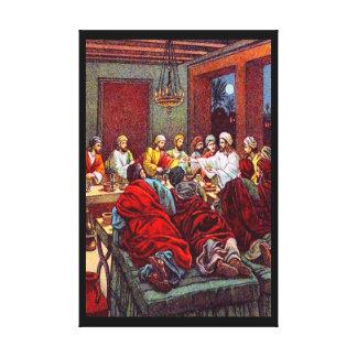 Matthewの26:17 - 25最後の過ぎ越しの祝いのキャンバス キャンバスプリント
