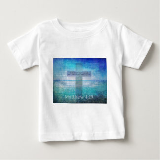 Matthewの4:19の感動的な聖書の詩 ベビーTシャツ