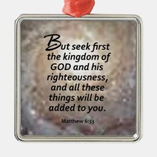 Matthewの6:33 メタルオーナメント