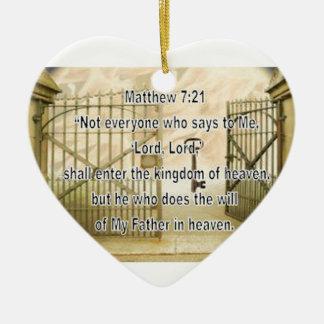 Matthewの7:21 セラミックオーナメント