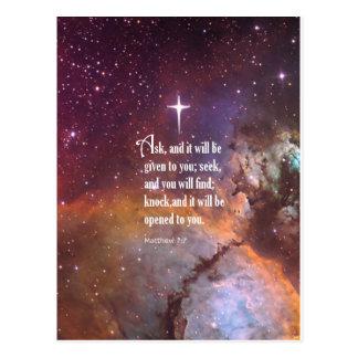 Matthewの7:7 ポストカード