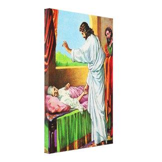 Matthewの8:14 - 15治療のピーターの義母 キャンバスプリント
