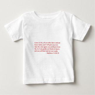 Matthew 11 28 29選択してburg.png下さい ベビーTシャツ