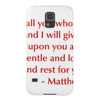 Matthew 11 28 29選択してburg.png下さい galaxy s5 ケース