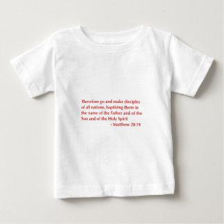 Matthew 28 19選択してburg.png下さい ベビーTシャツ