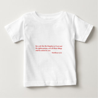 Matthew 6 33選択してburg.png下さい ベビーTシャツ