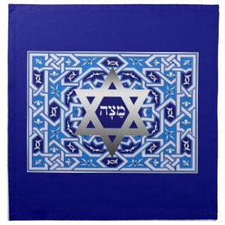 Matzah/マツァのヘブライ文字の過ぎ越しの祝いのMatzahカバー ナプキンクロス
