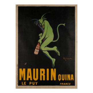 Maurin Quina CappielloのアブサンのApertifのヴィンテージ ポスター