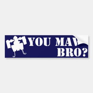 MAV Broか。 青のバンパーステッカー バンパーステッカー